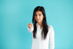 Woman pointing at you Royalty Free Stock Photography
