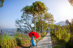 Woman in Pokhara Stock Photography
