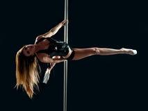 Woman pole dancer Stock Photos
