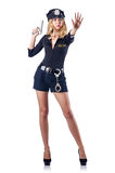 Woman police. In the concept Stock Photo