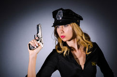 Woman police concept Royalty Free Stock Image
