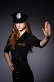 Woman police office Stock Photo