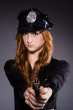 Woman police office Royalty Free Stock Image
