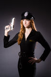 Woman police office Stock Image