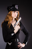 Woman police office Royalty Free Stock Photos
