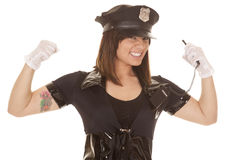 Woman police officer flew close Royalty Free Stock Images