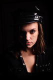 Woman of police officer uniform Stock Photo