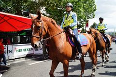 Woman Police Riding Horse Paris Royalty Free Stock Photography