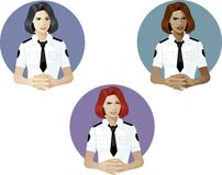 Woman in police uniform referent Royalty Free Stock Image