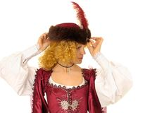 Woman in Polish clothes of 17 century Royalty Free Stock Photo