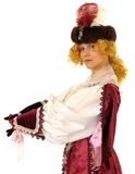 Woman in Polish clothes of 17 century Royalty Free Stock Photos