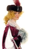 Woman in Polish clothes of 17 century Stock Images