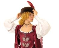Woman in Polish clothes Royalty Free Stock Images