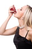 Woman and pomegranate Stock Photography