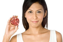 Woman With Pomegranate Stock Photography