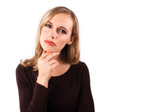 Woman pondering Royalty Free Stock Image