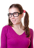 Woman with ponytail Royalty Free Stock Images