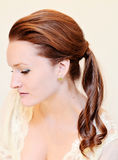 Woman with ponytail Royalty Free Stock Photography
