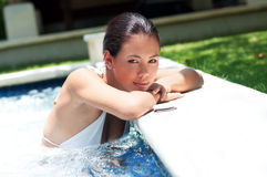 Woman In Pool Royalty Free Stock Images