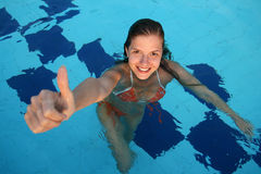 Woman in pool Royalty Free Stock Photography