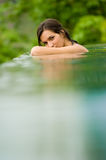 Woman In Pool stock photography