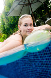 Woman In Pool royalty free stock photo