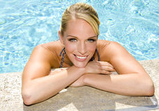 Woman at the pool Royalty Free Stock Photography
