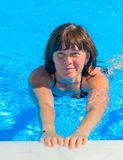 Woman in the pool. Middle-aged woman in the pool Royalty Free Stock Photo