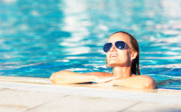 Woman in a pool Royalty Free Stock Photography