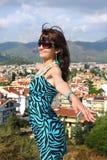 Woman in popular resort city of Marmaris in Turkey Stock Photo