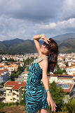 Woman in popular resort city of Marmaris in Turkey Royalty Free Stock Photo