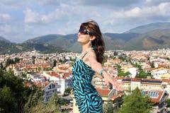 Woman in popular resort Marmaris in Turkey Royalty Free Stock Photo