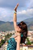 Woman in popular resort Marmaris in Turkey Stock Photos