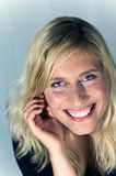 Woman portrait. Portrait of a blond woman laughing Royalty Free Stock Photography