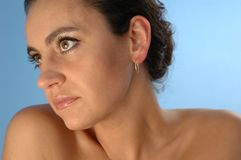 Woman-  portrait - 2. Woman's face and shoulders Stock Photo