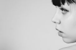 Woman portrait. Black and white portrait of a beautiful sensual woman Stock Photos