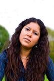Woman portrait. Woman 30 serene portrait outdoors Stock Images