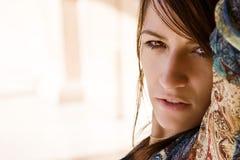 Woman portrait. Young sensual woman staring at camera Royalty Free Stock Photography