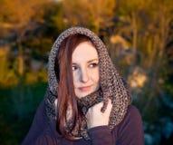 Woman portrait in autumn Stock Photos
