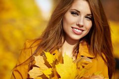 Woman portrait in autumn color Stock Photography