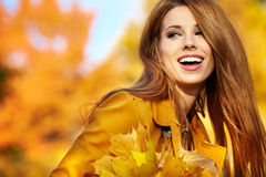 Woman portrait in autumn color Stock Image