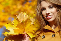 Woman portrait in autumn color Royalty Free Stock Photos