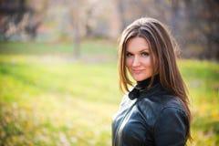 Woman portrait in autumn park Stock Image