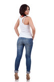 Woman portrait from the back Stock Images