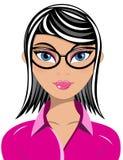 Woman Portrait Beautiful Glasses Fashion  Stock Photos