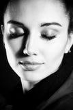 Woman portrait. BW photo. Stock Images