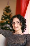Woman portrait at Christmas Stock Photography