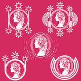 Woman portrait decorative design shape illustration Stock Photo