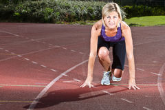 Woman portrait doing sport Royalty Free Stock Photo