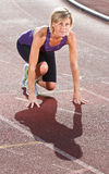 Woman portrait doing sport Royalty Free Stock Image